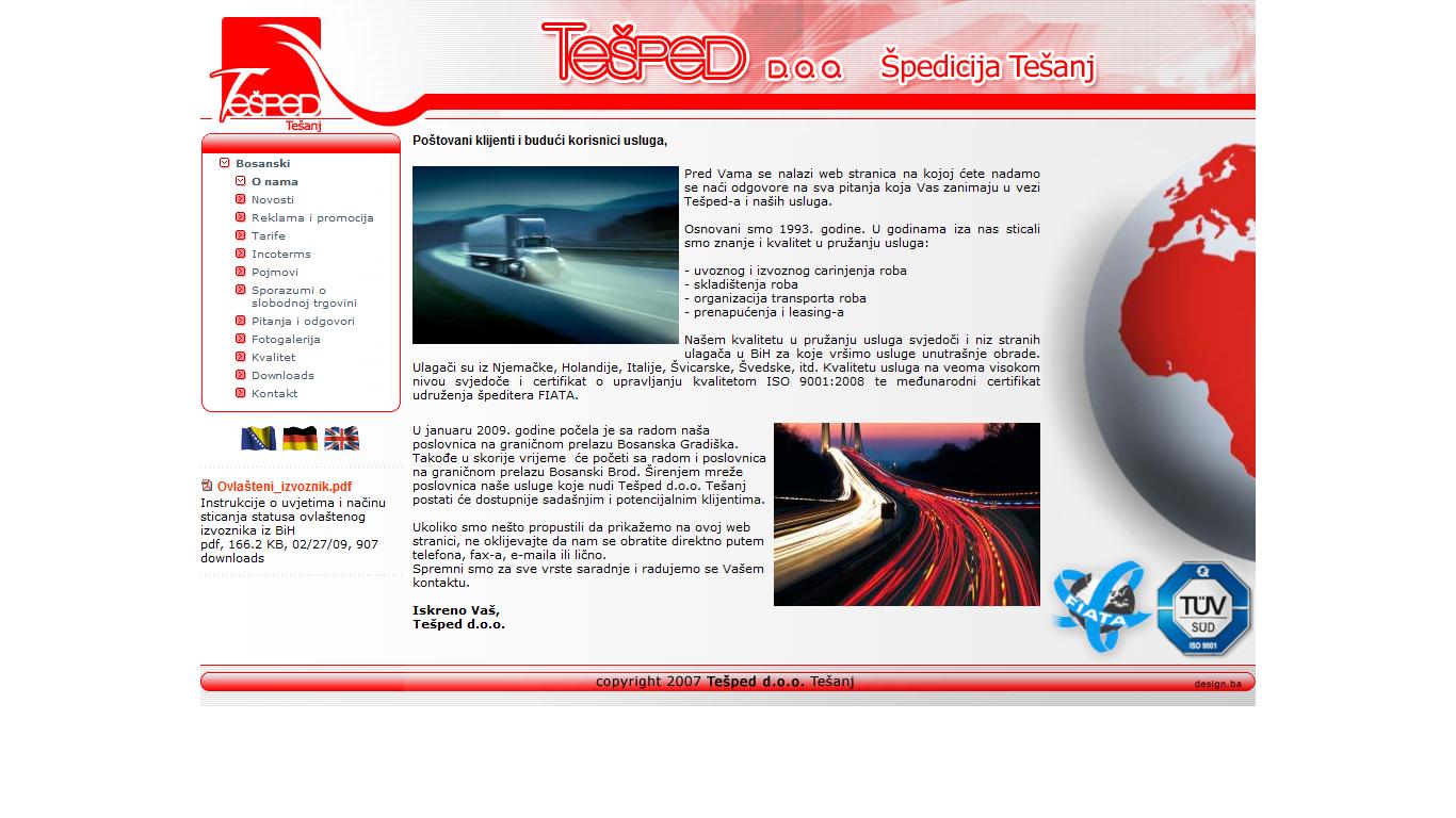 www.tesped.ba